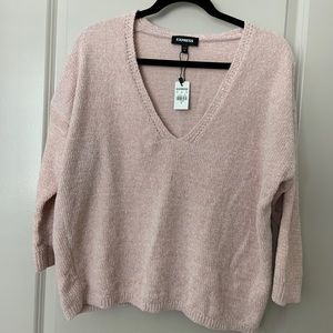 Express Sweaters - Soft woven 3/4 sweater